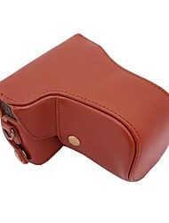 pajiatu® pu appareil photo en cuir étui de protection sac pour Nikon J1 J2 J3 30-110mm lentille longue