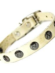 luxo diamante decorado colar de couro genuíno durável para animais de estimação cães