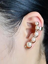 perla di moda con polsini dell'orecchio pietra