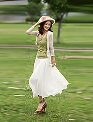Mujeres Yisa estilo de Bohemia falda de la playa elegante
