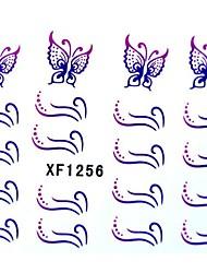 moitié couverture ongles fleurs de style autocollants