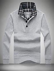 Men's Lapel Recreational Sweater