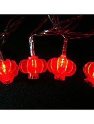 LED String Light 100 Lights Modern Lantern Shape Red Plastic 10m 220V