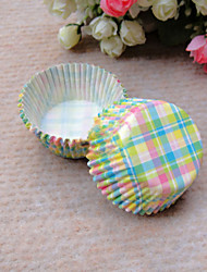 Colorful Check Pattern Cupcake Wrappers-Set of 50