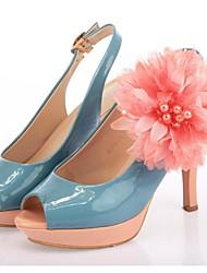 sapatos de pano flor dança decorações-conjunto de 6 (mais cores)