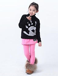 Girl's Black / Brown / Pink / Gray Skirt / Leggings,Print Cotton Blend Winter / Spring / Fall