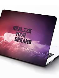 realizar seus sonhos projetar de corpo inteiro caixa de plástico de proteção para 11 polegadas / 13 polegadas ar novo macbook