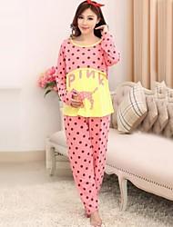 Maternity's Fashion Leisure Animal Printed Pajamas Clothing Set