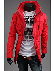 WANT Men's Long Sleeve Slim Stand Collar Hoodie Coats