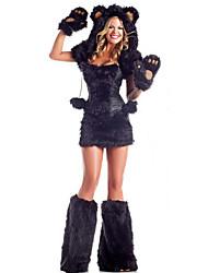 Yemei Frauen-Kostüm (mit Hut, Top, Rock, Handschuh, Fuß-Schlaufe) _68