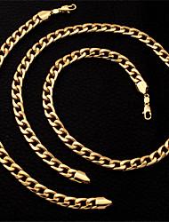 dos homens U7 cadeia cubano pulseira, colar conjunto