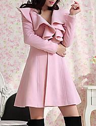 moonsunday todo color sólido chaqueta de tweed de las mujeres