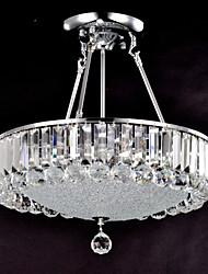 Crystal Flush Mounted Bowl Ceiling Light