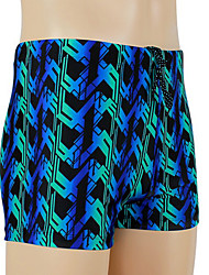 Moda Masculina Stripe Plana Ângulo Swim Shorts