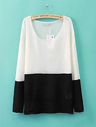 moda cor de correspondência de pulôver blusas femininas