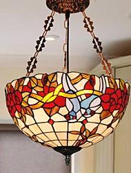 16 aves polegadas design do vitral tiffany luz pingente