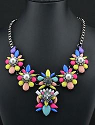 arco iris collar de perlas de color de las mujeres