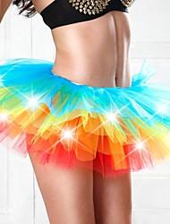 Eve's Night®Women's Adult Light Up Neon Rainbow Multi-Colored Tutu
