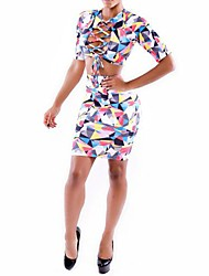 Women's Fashion Sexy Color Foreign Trade Two Suit (Shirt&Skirt)