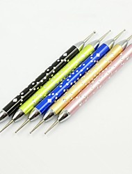 5PCS 2 Sizes in one Other Nail Art Dotting Pen Painting Tools Files for Nail Art Tips and Iphone Covers Decorations