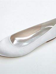 Черный / Синий / Розовый / Фиолетовый / Айвори / Белый - Свадебная обувь - Женский - С круглым носком - Обувь на плоской подошве -Свадьба