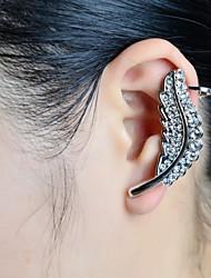 piedra de la moda de la hoja conjunto del manguito del oído