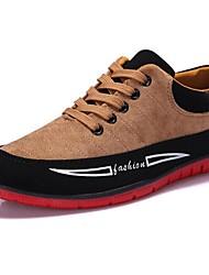 Herren Komfort Vulkanisierte Schuhe Kunstleder Frühling Sommer Herbst Winter Normal Komfort Vulkanisierte Schuhe SchnürsenkelFlacher