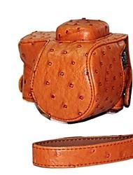dengpin® lederen camera case tas hoes struisvogel patroon voor sony nex-5r nex-5t 5r 5t met 16-50mm of 2,8 / 16 lens