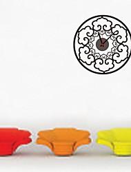 zooyoo® часы электронные батарея DIY круглый цветок форма настенные часы настенные наклейки домашнего декора для комнаты