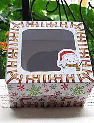 Snowman & Snowflake Style Cake Favor Boxes-Set of 5