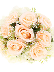 "Wedding Flowers Round Roses Bouquets Wedding Polyester 9.84""(Approx.25cm)"