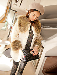 Coko&De женщин 2014 новый европейский искусственный мех тонкий средней длины пальто