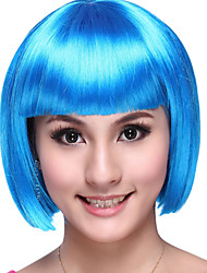Cosplay Wigs Cosplay Festival/Holiday Halloween Costumes Blue Solid Wig Halloween / Carnival Female