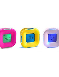 Coway Rotary Induction Colorful Four LED Nightlight Clock(Assorted Color)