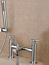 Shower Faucet / Bathtub Faucet - Contemporary Brass (Chrome)