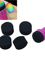 5PCS Manicure Sponge Nail Stamper Tools With Extra 20PCS Round Sponge Nail Art