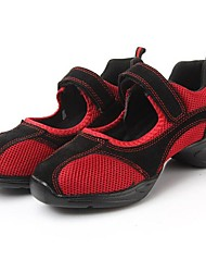 Non Customizable Women's Dance Shoes Dance Sneakers Synthetic Flat Heel Black/Red