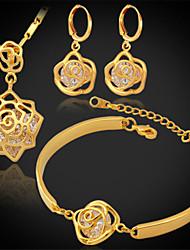 u7 luxo platina banhado a ouro 18k colar brincos pulseira