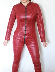 Spiderwoman negro de las mujeres del PVC de la ropa interior atractiva del uniforme