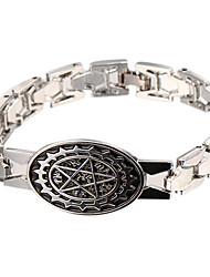Punk-Stil Magic Star Silber Lederarmband (1 PC)