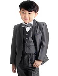 Boy's Dark Grey Suit (Jacket+Vest+Pants) Three-Piece Set Ring Bearer's Wear Kid's Ceremonial Suit B22