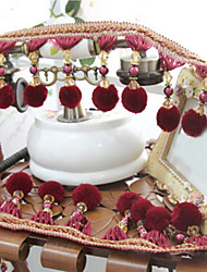 32 feet Country Graceful Hand Made Trim - Burgundy