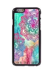 """regalo personalizado elegante flor caso del diseño del metal para el iphone 6 (4,7 """")"""
