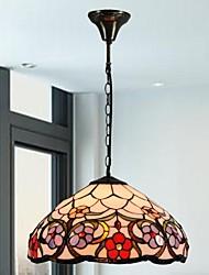 16 polegadas projeto da flor vitrais tiffany luz pingente pendurado