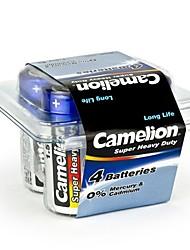 camelion batterie super lourd de la taille de la c de service dans la boîte en plastique de 4 pièces