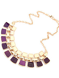 Masoo Women's Fashional Double Gem  Necklace