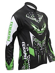Realtoo Cycling Jacket Men's Long Sleeves Bike Jersey Tops Thermal / Warm Fleece Lining Breathable Spandex Polyester Fleece Letter &