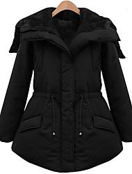 WEIMEI manteau couleur de coton épais et solide (noir)