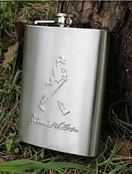boccetta portatile dell'anca dell'acciaio inossidabile degli uomini (8 once)
