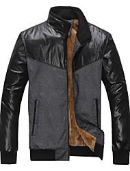 Men's Long Sleeve Jacket , Cotton Blend Sport Pure